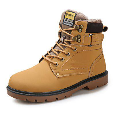 Male Sylish Warm Plush Outdoor Martin BootsMens Boots<br>Male Sylish Warm Plush Outdoor Martin Boots<br><br>Closure Type: Lace-Up<br>Contents: 1 x Pair of Shoes<br>Function: Slip Resistant<br>Lining Material: Plush<br>Materials: PU, Rubber, Plush<br>Occasion: Tea Party, Shopping, Outdoor Clothing, Office, Casual, Party, Daily, Holiday<br>Outsole Material: Rubber<br>Package Size ( L x W x H ): 31.00 x 21.00 x 11.00 cm / 12.2 x 8.27 x 4.33 inches<br>Package Weights: 0.95kg<br>Pattern Type: Solid<br>Seasons: Autumn,Spring,Winter<br>Style: Modern, Leisure, Fashion, Comfortable, Casual<br>Toe Shape: Round Toe<br>Type: Boots<br>Upper Material: PU