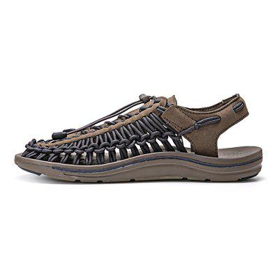 Male Stylish Beach Knitted Flat SandalsMens Sandals<br>Male Stylish Beach Knitted Flat Sandals<br><br>Closure Type: Lace-Up<br>Contents: 1 x Pair of Shoes<br>Materials: Rubber, PU<br>Occasion: Tea Party, Party, Holiday, Daily, Casual, Shopping<br>Outsole Material: Rubber<br>Package Size ( L x W x H ): 31.00 x 18.00 x 11.00 cm / 12.2 x 7.09 x 4.33 inches<br>Package Weights: 0.75kg<br>Seasons: Autumn,Spring,Summer<br>Style: Modern, Leisure, Fashion, Comfortable, Casual<br>Toe Shape: Round Toe<br>Type: Sandals<br>Upper Material: PU