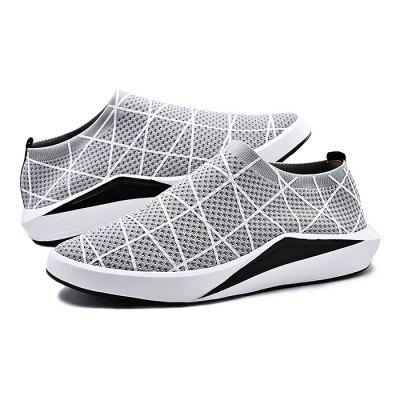 Male Breathable Knitted Graffiti Slip On Casual ShoesCasual Shoes<br>Male Breathable Knitted Graffiti Slip On Casual Shoes<br><br>Closure Type: Slip-On<br>Contents: 1 x Pair of Shoes<br>Decoration: Weave<br>Materials: Woven Fabric, PU<br>Occasion: Tea Party, Party, Outdoor Clothing, Holiday, Daily, Casual, Shopping<br>Outsole Material: PU<br>Package Size ( L x W x H ): 31.00 x 21.00 x 11.00 cm / 12.2 x 8.27 x 4.33 inches<br>Package Weights: 0.75kg<br>Seasons: Autumn,Spring,Summer<br>Style: Modern, Leisure, Fashion, Comfortable, Casual<br>Toe Shape: Round Toe<br>Type: Casual Shoes<br>Upper Material: Woven Fabric