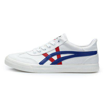Male Casual Canvas Flat Anti Slip Leisure ShoesCasual Shoes<br>Male Casual Canvas Flat Anti Slip Leisure Shoes<br><br>Closure Type: Lace-Up<br>Contents: 1 x Pair of Shoes<br>Function: Slip Resistant<br>Materials: Rubber, Canvas<br>Occasion: Tea Party, Shopping, Outdoor Clothing, Office, Holiday, Daily, Casual, Party<br>Outsole Material: Rubber<br>Package Size ( L x W x H ): 30.00 x 10.00 x 12.00 cm / 11.81 x 3.94 x 4.72 inches<br>Package Weights: 0.71kg<br>Seasons: Autumn,Spring<br>Style: Modern, Leisure, Fashion, Comfortable, Casual<br>Toe Shape: Round Toe<br>Type: Casual Shoes<br>Upper Material: Canvas