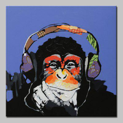 Mintura Hand Painted Music Gorilla Canvas Home Decor Oil Painting