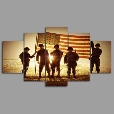 YSDAFEN kn - 291 Modern Canvas Framed Soldier PrintsPrints<br>YSDAFEN kn - 291 Modern Canvas Framed Soldier Prints<br><br>Brand: YSDAFEN<br>Craft: Print<br>Form: Five Panels<br>Material: Canvas<br>Package Contents: 5 x Print<br>Package size (L x W x H): 82.00 x 32.00 x 12.00 cm / 32.28 x 12.6 x 4.72 inches<br>Package weight: 1.5000 kg<br>Painting: Include Inner Frame<br>Product size (L x W x H): 80.00 x 30.00 x 10.00 cm / 31.5 x 11.81 x 3.94 inches<br>Product weight: 1.2000 kg<br>Shape: Horizontal Panoramic<br>Style: Modern<br>Subjects: Figurative<br>Suitable Space: Living Room