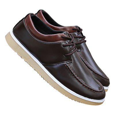Male Business Casual Soft Leather Dress ShoesFormal Shoes<br>Male Business Casual Soft Leather Dress Shoes<br><br>Closure Type: Lace-Up<br>Contents: 1 x Pair of Shoes<br>Lining Material: Cotton Fabric<br>Materials: Leather, Plastic, PU, Cotton<br>Occasion: Office, Daily, Casual, Dress<br>Outsole Material: Plastic<br>Package Size ( L x W x H ): 25.00 x 18.00 x 11.00 cm / 9.84 x 7.09 x 4.33 inches<br>Package Weights: 0.97kg<br>Pattern Type: Solid<br>Seasons: Autumn,Spring<br>Style: Modern, Leisure, Comfortable, Casual, Business<br>Toe Shape: Round Toe<br>Type: Casual Leather Shoes<br>Upper Material: Leather,PU