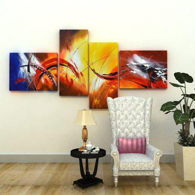 4PCS YHHP Colorful Abstract Style Canvas Oil PaintingOil Paintings<br>4PCS YHHP Colorful Abstract Style Canvas Oil Painting<br><br>Brand: YHHP<br>Craft: Oil Painting<br>Form: Four Panels<br>Material: Canvas<br>Package Contents: 4 x Painting<br>Package size (L x W x H): 72.00 x 42.00 x 20.00 cm / 28.35 x 16.54 x 7.87 inches<br>Package weight: 2.7000 kg<br>Painting: Include Inner Frame<br>Product weight: 2.2000 kg<br>Shape: Horizontal Panoramic<br>Style: Abstract<br>Subjects: Abstract<br>Suitable Space: Bedroom,Dining Room,Hotel,Living Room