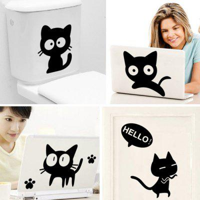 DSU Creative Black Cat Pattern Design Waterproof StickerWall Stickers<br>DSU Creative Black Cat Pattern Design Waterproof Sticker<br><br>Brand: DSU<br>Function: Decorative Wall Sticker<br>Material: Vinyl(PVC), Self-adhesive Plastic<br>Package Contents: 1 x Wall Sticker<br>Package size (L x W x H): 60.00 x 5.00 x 5.00 cm / 23.62 x 1.97 x 1.97 inches<br>Package weight: 0.1400 kg<br>Product size (L x W x H): 60.00 x 43.00 x 0.10 cm / 23.62 x 16.93 x 0.04 inches<br>Product weight: 0.0900 kg<br>Quantity: 1<br>Subjects: Cartoon<br>Suitable Space: Bedroom,Dining Room,Game Room,Hallway,Kitchen,Living Room<br>Type: Plane Wall Sticker