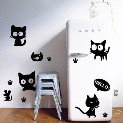 Buy BLACK DSU Creative Black Cat Pattern Design Waterproof Sticker for $4.08 in GearBest store