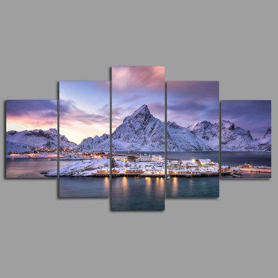 YSDAFEN kn - 304 Modern Canvas Framed PrintsPrints<br>YSDAFEN kn - 304 Modern Canvas Framed Prints<br><br>Brand: YSDAFEN<br>Craft: Print<br>Form: Five Panels<br>Material: Canvas<br>Package Contents: 5 x Print<br>Package size (L x W x H): 82.00 x 32.00 x 12.00 cm / 32.28 x 12.6 x 4.72 inches<br>Package weight: 1.5000 kg<br>Painting: Include Inner Frame<br>Product weight: 1.2000 kg<br>Shape: Horizontal Panoramic<br>Style: Modern<br>Subjects: Landscape<br>Suitable Space: Living Room
