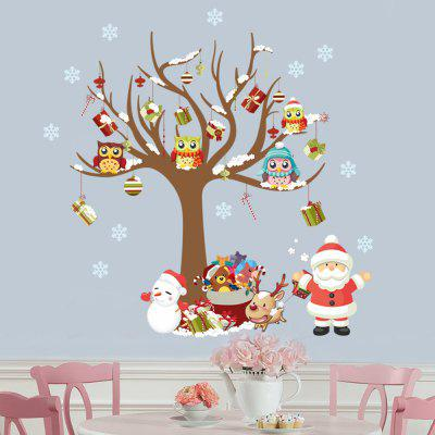 Buy COLORMIX MCYH Christmas Tree Pattern Glass Window Decor Sticker for $9.37 in GearBest store