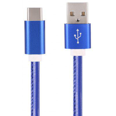 1m Type-C 3.1 USB Data Sync Charging PU Leather Cable Cord