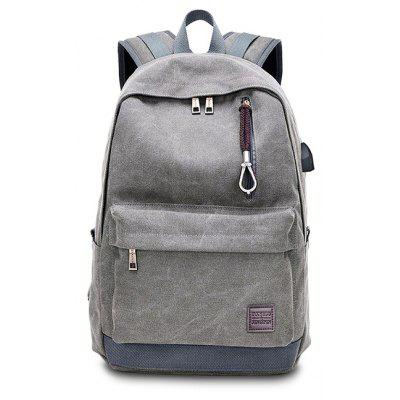 Buy GRAY Men Leisure Large Capacity Computer Backpack with USB Port for $20.38 in GearBest store