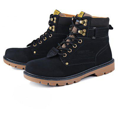 Masculino Casual Breathable High Top Lace Martin Boots