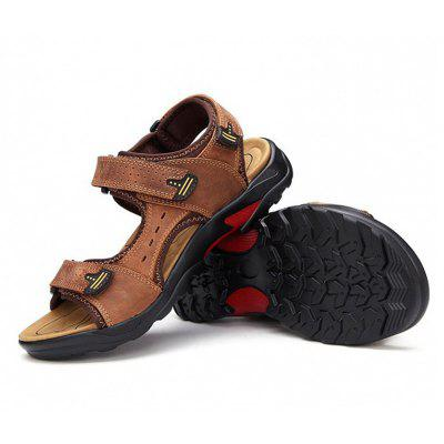 Male Leisure Outdoor Leather SandalsMens Sandals<br>Male Leisure Outdoor Leather Sandals<br><br>Contents: 1 x Pair of Sandals<br>Function: Slip Resistant<br>Materials: Genuine Leather, PU, Rubber<br>Occasion: Shopping, Holiday, Casual, Beach<br>Outsole Material: Rubber<br>Package Size ( L x W x H ): 25.00 x 18.00 x 11.00 cm / 9.84 x 7.09 x 4.33 inches<br>Pattern Type: Solid<br>Seasons: Summer<br>Style: Casual<br>Toe Shape: Open Toe<br>Type: Sandals<br>Upper Material: Leather
