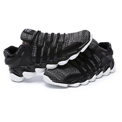 Male Casual Breathable Knitted Running Athletic Shoes