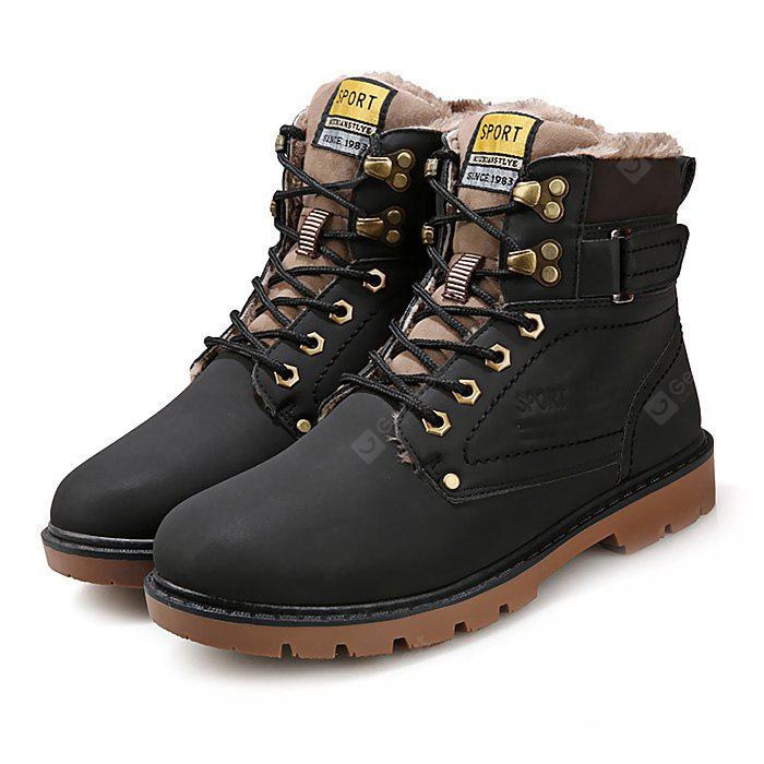 Male Sylish Warm Plush Outdoor Martin Boots