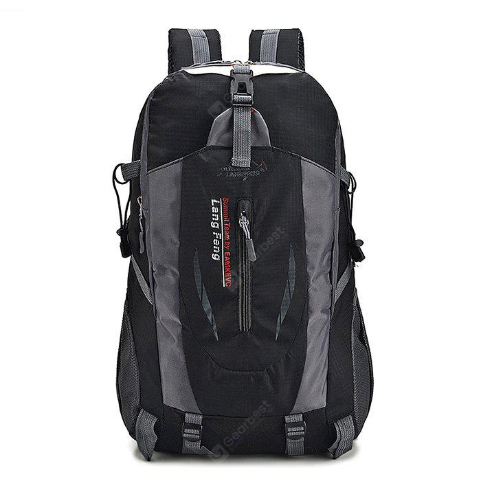 Buy Men Outdoor Multifunctional Nylon Backpack BLACK