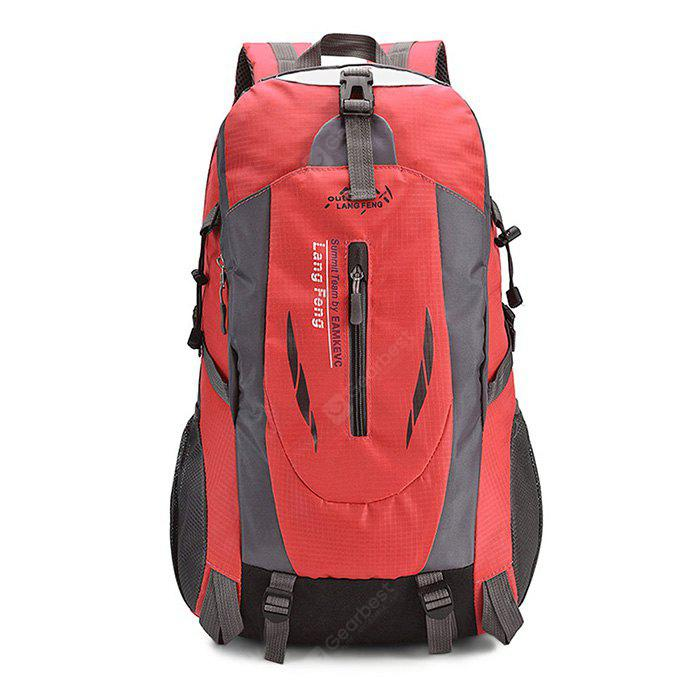 Buy Men Outdoor Multifunctional Nylon Backpack RED