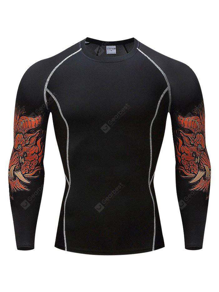 Elastic Quick Dry Exercise Long Sleeve Compression Base Layer