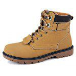 Male Casual Breathable High Top Lace Martin Boots - KHAKI