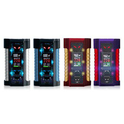 Original Sigelei MT 220W Box ModTemperature Control Mods<br>Original Sigelei MT 220W Box Mod<br><br>Accessories type: MOD<br>Battery Form Factor: 18650<br>Battery Quantity: 2pcs ( not included )<br>Brand: Sigelei<br>Material: Stainless Steel, Zinc Alloy<br>Mod: Temperature Control Mod,VV/VW Mod<br>Model: MT 220W<br>Package Contents: 1 x Sigelei MT 220W Box Mod, 1 x English Manual Card<br>Package size (L x W x H): 15.00 x 9.00 x 6.00 cm / 5.91 x 3.54 x 2.36 inches<br>Package weight: 0.3500 kg<br>Product size (L x W x H): 8.70 x 5.00 x 3.35 cm / 3.43 x 1.97 x 1.32 inches<br>Product weight: 0.2300 kg<br>Temperature Control Range: 100 - 300 Deg.C / 200 - 570 Deg.F<br>Type: Electronic Cigarettes Accessories