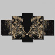 YSDAFEN 5PCS Canvas Lion Modern Print Wall Decor