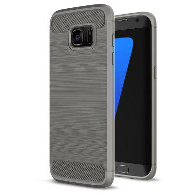 Buy GRAY Luanke Brushed Finish Soft Cover for Samsung Galaxy S7 Edge for $5.42 in GearBest store