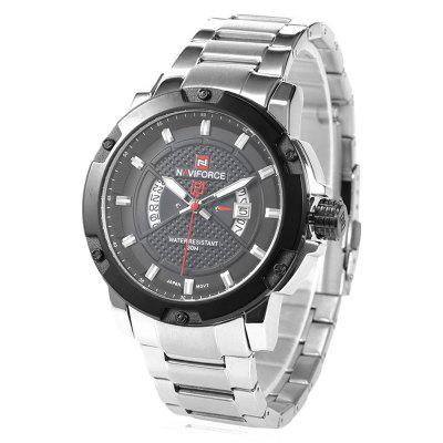 NAVIFORCE NF9085M Men Quartz WatchMens Watches<br>NAVIFORCE NF9085M Men Quartz Watch<br><br>Band material: Stainless Steel<br>Band size: 22 x 2.20 cm / 8.66 x 0.87 inches<br>Brand: Naviforce<br>Case material: Alloy<br>Clasp type: Folding clasp with safety<br>Dial size: 5.0 x 5.0 x 1.2cm / 1.97 x 1.97 x 0.47 inches<br>Display type: Analog<br>Movement type: Quartz watch<br>Package Contents: 1 x NAVIFORCE Men Quartz Watch<br>Package size (L x W x H): 12.00 x 6.00 x 2.20 cm / 4.72 x 2.36 x 0.87 inches<br>Package weight: 0.1940 kg<br>Product size (L x W x H): 22.00 x 5.00 x 1.20 cm / 8.66 x 1.97 x 0.47 inches<br>Product weight: 0.1630 kg<br>Shape of the dial: Round<br>Special features: Luminous, Date<br>Watch color: Black and Golden, Coffee, Black, White and Black, White<br>Watch mirror: Mineral glass<br>Watch style: Business<br>Watches categories: Male table<br>Water resistance: 30 meters