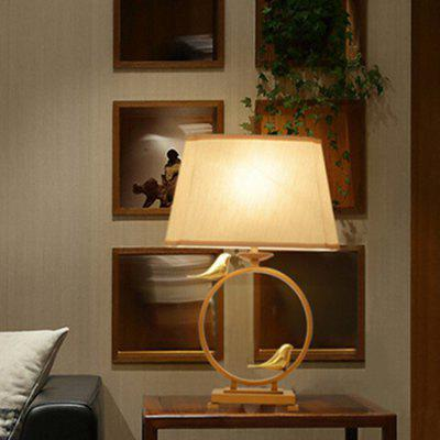 Classic Chinese Poetic Style Bronze Table Lamp 220V