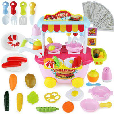 Fast Food Truck Set for ChildrenPretend Play<br>Fast Food Truck Set for Children<br><br>Age: 3 Years+<br>Applicable gender: Unisex<br>Battery Type: 3 x 1.5V AA battery(not included)<br>Design Style: Kitchenware<br>Features: DIY<br>Material: Plastic<br>Package Contents: 1 x Fast Food Truck Set<br>Package size (L x W x H): 28.50 x 16.50 x 18.00 cm / 11.22 x 6.5 x 7.09 inches<br>Package weight: 0.9400 kg<br>Product size (L x W x H): 39.00 x 21.50 x 35.50 cm / 15.35 x 8.46 x 13.98 inches<br>Product weight: 0.6800 kg<br>Small Parts : Yes<br>Type: Kitchen Toy<br>Washing: Yes