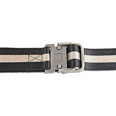 130cm Smooth Striped Nylon Belt with Stylish Zinc Alloy BuckleMens Belts<br>130cm Smooth Striped Nylon Belt with Stylish Zinc Alloy Buckle<br><br>Color: Black<br>Material: Canvas<br>Package Size(L x W x H): 18.00 x 11.00 x 5.00 cm / 7.09 x 4.33 x 1.97 inches<br>Package weight: 0.1700 kg<br>Packing List: 1 x Belt<br>Product Size(L x W x H): 130.00 x 3.90 x 0.30 cm / 51.18 x 1.54 x 0.12 inches<br>Product weight: 0.1490 kg<br>Style: Outdoor