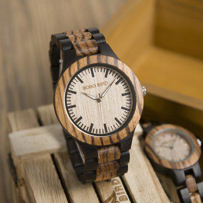 BOBO BIRD WN28 Wood Band Men Quartz WatchMens Watches<br>BOBO BIRD WN28 Wood Band Men Quartz Watch<br><br>Band material: Wood<br>Band size: 19.8 x 2.3cm<br>Brand: BOBO BIRD<br>Case material: Wood<br>Clasp type: Butterfly clasp<br>Dial size: 4.54 x 4.54 x 1.11cm<br>Display type: Analog<br>Movement type: Quartz watch<br>Package Contents: 1 x Watch, 1 x Box<br>Package size (L x W x H): 8.50 x 8.50 x 5.50 cm / 3.35 x 3.35 x 2.17 inches<br>Package weight: 0.1230 kg<br>Product size (L x W x H): 19.80 x 4.54 x 1.11 cm / 7.8 x 1.79 x 0.44 inches<br>Product weight: 0.0530 kg<br>Shape of the dial: Round<br>Watch mirror: Acrylic<br>Watch style: Casual, Fashion<br>Watches categories: Men