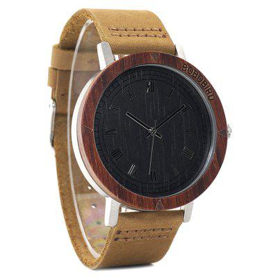 BOBO BIRD K06 Genuine Leather Band Men Quartz WatchMens Watches<br>BOBO BIRD K06 Genuine Leather Band Men Quartz Watch<br><br>Band material: Genuine Leather<br>Band size: 24.5 x 2cm<br>Brand: BOBO BIRD<br>Case material: Wood<br>Clasp type: Pin buckle<br>Dial size: 4.3 x 4.3 x 1cm<br>Display type: Analog<br>Movement type: Quartz watch<br>Package Contents: 1 x Watch, 1 x Box<br>Package size (L x W x H): 8.50 x 8.50 x 5.50 cm / 3.35 x 3.35 x 2.17 inches<br>Package weight: 0.1240 kg<br>Product size (L x W x H): 24.50 x 4.30 x 1.00 cm / 9.65 x 1.69 x 0.39 inches<br>Product weight: 0.0540 kg<br>Shape of the dial: Round<br>Watch mirror: Acrylic<br>Watch style: Casual, Fashion<br>Watches categories: Men