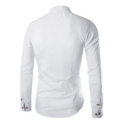 Fashion Slim Solid Color Stand Collar Young Man ShirtMens Shirts<br>Fashion Slim Solid Color Stand Collar Young Man Shirt<br><br>Material: Cotton, Polyester<br>Package Contents: 1 x Shirt<br>Package size: 32.00 x 40.00 x 2.00 cm / 12.6 x 15.75 x 0.79 inches<br>Package weight: 0.2800 kg<br>Product weight: 0.2600 kg