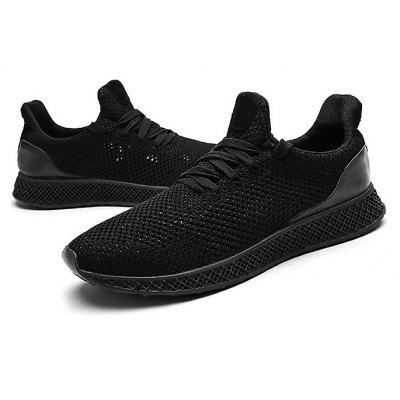 Masculino respirável Wearable Lace Running Athletic Shoes