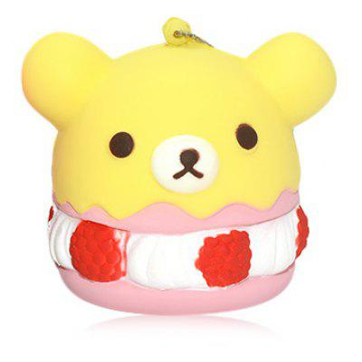 Buy YELLOW PU Foam Lovely Bear Style Squishy Toy for $4.99 in GearBest store