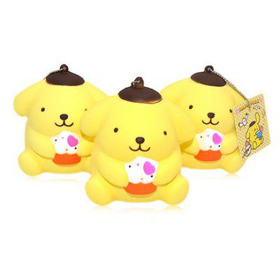 Buy YELLOW 1PC PU Foam Cartoon Dog Style Squishy Toy for $4.99 in GearBest store