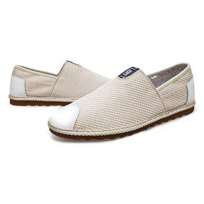 Male Stylish Breathable Flat Slip On Leisure ShoesCasual Shoes<br>Male Stylish Breathable Flat Slip On Leisure Shoes<br><br>Closure Type: Slip-On<br>Contents: 1 x Pair of Shoes<br>Decoration: Split Joint<br>Function: Slip Resistant<br>Lining Material: Cotton Fabric<br>Materials: Canvas, Fabric, TPR<br>Occasion: Tea Party, Shopping, Office, Holiday, Daily, Casual<br>Outsole Material: TPR<br>Package Size ( L x W x H ): 25.00 x 18.00 x 11.00 cm / 9.84 x 7.09 x 4.33 inches<br>Package Weights: 0.89kg<br>Pattern Type: Solid<br>Seasons: Autumn,Spring<br>Style: Modern, Leisure, Fashion, Comfortable, Casual<br>Toe Shape: Round Toe<br>Type: Casual Shoes<br>Upper Material: Canvas