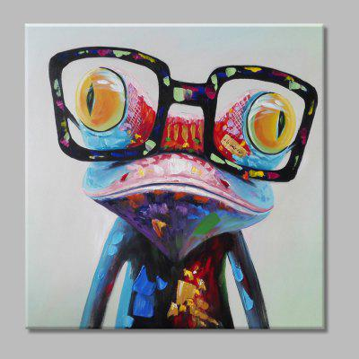 Mintura Hand Painted Colorful Doctor Frog Oil Painting