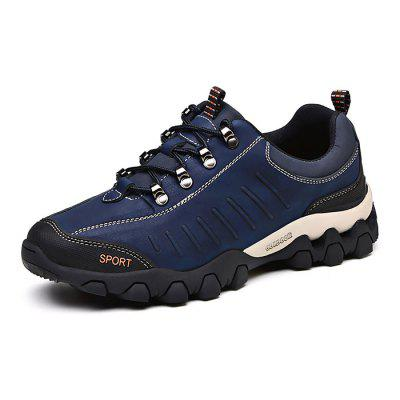 Male Soft Wearable Outdoor Hiking SneakersAthletic Shoes<br>Male Soft Wearable Outdoor Hiking Sneakers<br><br>Closure Type: Lace-Up<br>Contents: 1 x Pair of Shoes<br>Function: Slip Resistant<br>Materials: Rubber, matte-leather<br>Occasion: Sports, Shopping, Riding, Outdoor Clothing, Running, Casual, Daily, Holiday<br>Outsole Material: Rubber<br>Package Size ( L x W x H ): 33.00 x 22.00 x 11.00 cm / 12.99 x 8.66 x 4.33 inches<br>Package Weights: 1.32kg<br>Pattern Type: Solid<br>Seasons: Autumn,Spring<br>Style: Modern, Leisure, Fashion, Comfortable, Casual<br>Toe Shape: Round Toe<br>Type: Hiking Shoes<br>Upper Material: Leather