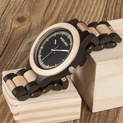 BOBO BIRD W001 Stylish Wood Band Men Quartz WatchMens Watches<br>BOBO BIRD W001 Stylish Wood Band Men Quartz Watch<br><br>Band material: Wood<br>Band size: 20 x 2.3cm<br>Brand: BOBO BIRD<br>Case material: Wood<br>Clasp type: Butterfly clasp<br>Dial size: 4.5 x 4.5 x 1.1cm<br>Display type: Analog<br>Movement type: Quartz watch<br>Package Contents: 1 x Watch, 1 x Box<br>Package size (L x W x H): 8.50 x 8.50 x 5.50 cm / 3.35 x 3.35 x 2.17 inches<br>Package weight: 0.1280 kg<br>Product size (L x W x H): 20.00 x 4.50 x 1.10 cm / 7.87 x 1.77 x 0.43 inches<br>Product weight: 0.0580 kg<br>Shape of the dial: Round<br>Watch mirror: Acrylic<br>Watch style: Fashion<br>Watches categories: Men