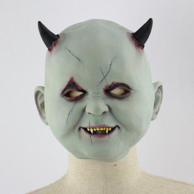 Latex Mask of Green Face Monster Design