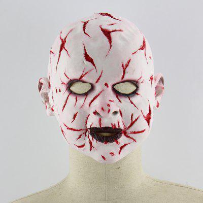 Latex Mask of Blood Face Ghost Pattern
