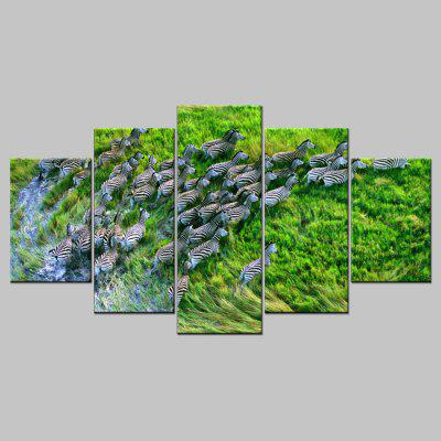 Buy COLORMIX YSDAFEN 5PCS Printed Animal Painting Canvas Print for $55.37 in GearBest store