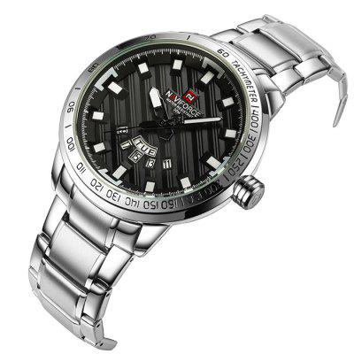 NAVIFORCE 9090 Stainless Steel Band Men WatchMens Watches<br>NAVIFORCE 9090 Stainless Steel Band Men Watch<br><br>Band material: Stainless Steel<br>Band size: 24 x 2.4cm<br>Brand: Naviforce<br>Case material: Alloy<br>Clasp type: Sheet folding clasp<br>Dial size: 4.7 x 4.7 x 1.35cm<br>Display type: Analog<br>Movement type: Quartz watch<br>Package Contents: 1 x Watch, 1 x Box<br>Package size (L x W x H): 16.00 x 8.00 x 4.50 cm / 6.3 x 3.15 x 1.77 inches<br>Package weight: 2.3300 kg<br>Product size (L x W x H): 24.00 x 4.70 x 1.35 cm / 9.45 x 1.85 x 0.53 inches<br>Product weight: 1.5200 kg<br>Shape of the dial: Round<br>Watch mirror: Mineral glass<br>Watch style: Fashion<br>Watches categories: Men