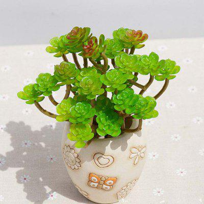 Buy XM 1 Bouquet Succulent Plant Encrinite Artificial Flowers, GREEN, Home & Garden, Home Decors, Artificial Flowers for $4.68 in GearBest store