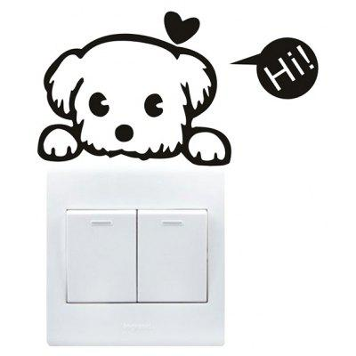 Creative Dog Wall Sticker for Switch