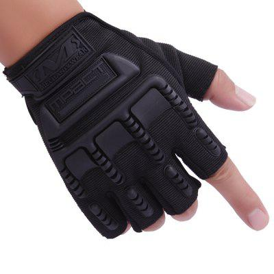 Breathable Tactical Gloves for Cycling ClimbingCycling Gloves<br>Breathable Tactical Gloves for Cycling Climbing<br><br>Features: Breathable<br>Gender: Unisex<br>Package Contents: 1 x Paired Tactical Gloves<br>Package size (L x W x H): 17.50 x 13.00 x 2.50 cm / 6.89 x 5.12 x 0.98 inches<br>Package weight: 0.0950 kg<br>Product size (L x W x H): 16.50 x 12.00 x 1.50 cm / 6.5 x 4.72 x 0.59 inches<br>Product weight: 0.0900 kg<br>Size: L<br>Type: Half-finger