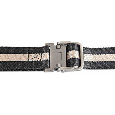 130cm Smooth Striped Nylon Belt with Stylish Zinc Alloy BuckleMens Belts<br>130cm Smooth Striped Nylon Belt with Stylish Zinc Alloy Buckle<br><br>Material: Canvas<br>Package Size(L x W x H): 18.00 x 11.00 x 5.00 cm / 7.09 x 4.33 x 1.97 inches<br>Package weight: 0.1700 kg<br>Packing List: 1 x Belt<br>Product Size(L x W x H): 130.00 x 3.90 x 0.30 cm / 51.18 x 1.54 x 0.12 inches<br>Product weight: 0.1490 kg<br>Style: Outdoor