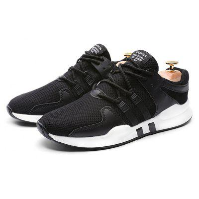 Buy BLACK 41 Male Breathable Soft Durable Running Athletic Shoes for $18.29 in GearBest store