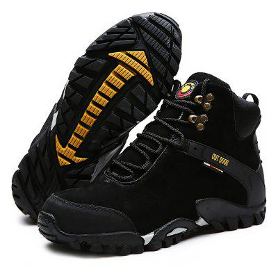 Buy BLACK 42 Male Stylish Soft Light Anti Slip Outdoor Athletic Shoes for $44.05 in GearBest store