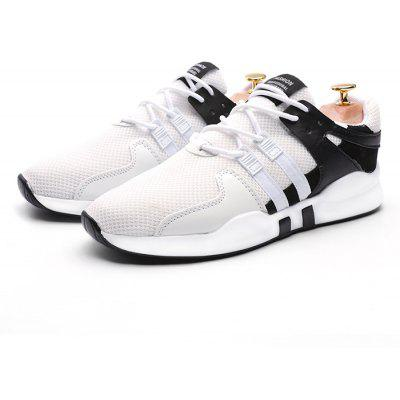 Buy BLACK WHITE 42 Male Breathable Soft Durable Running Athletic Shoes for $20.22 in GearBest store